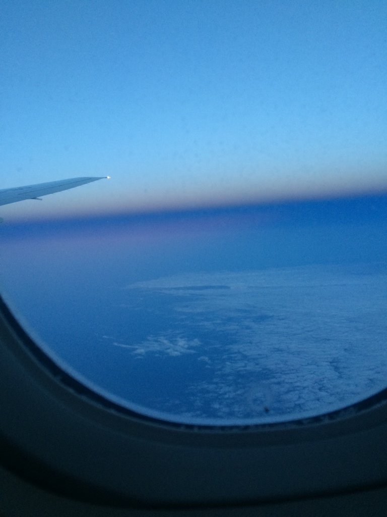 Somewhere over France as dawn